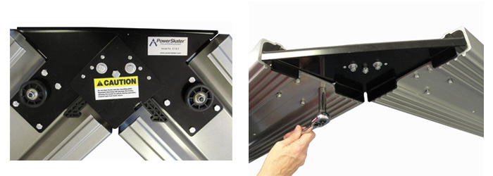 Power Skater Mounting Plate keeps the unit at a fixed angle